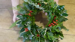 Make a Christmas Wreath from Your Garden