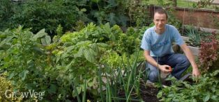Jeremy in his small but productive front garden