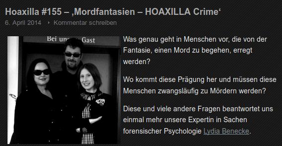 Hoaxilla #155 – 'Mordfantasien – HOAXILLA Crime'