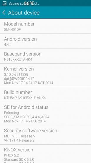 Aggiornamento OTA per Samsung Galaxy Note 4 build N910FXXU1ANK4