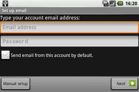 inserire username e password