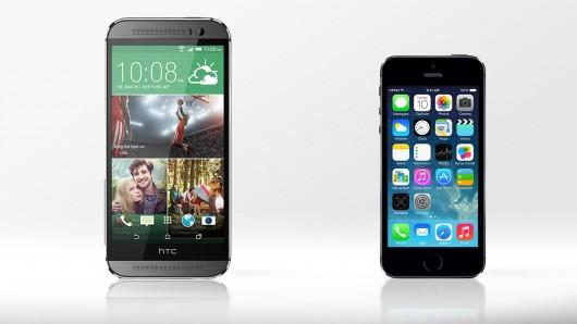 siri vs cortana iphone 5s vs htc m8