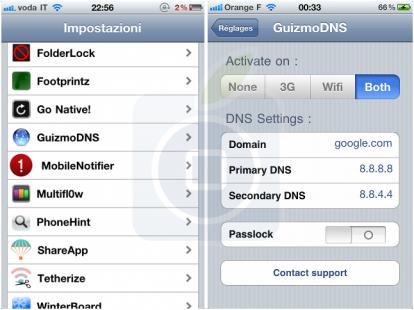 come cambiare i DNS su IOS iPhone e iPad