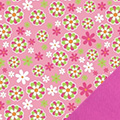 Pink Daisies Fleece Fabric