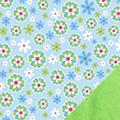 Blue Daisies Fleece Fabric