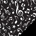Music Notes Fleece Fabric