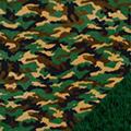Green Camouflage Fleece Fabric
