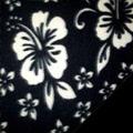 Black Hawaiian Fleece Fabric