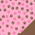 Pink Paws Fleece Fabric