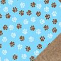 Blue Paws Fleece Fabric