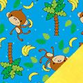 Tossed Monkeys Fleece Fabric