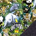 Jungle Animals Fleece Fabric