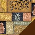 Pine Cones Fleece Fabric