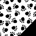 Black Paws Fleece Fabric
