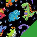Tossed Dinos Fleece Fabric