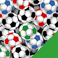 Soccer Balls Fleece Fabric