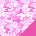 Pink Camo Fleece Fabric