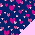 Heart Showers Fleece Fabric