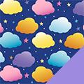 Clouds Fleece Fabric