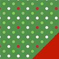 Christmas Dots Fleece Fabric