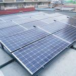 埼玉県K市市民ソーラー S町会館 陸屋根架台 シンプルレイ工事
