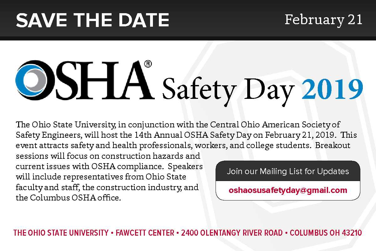 2019 OSHA Safety Day