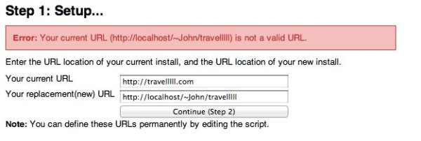 Your current URL is not a valid URL