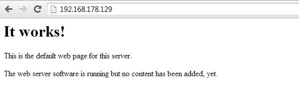 Default apache web page