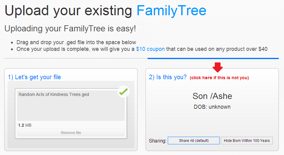 Family Tree DNA Coupon Step