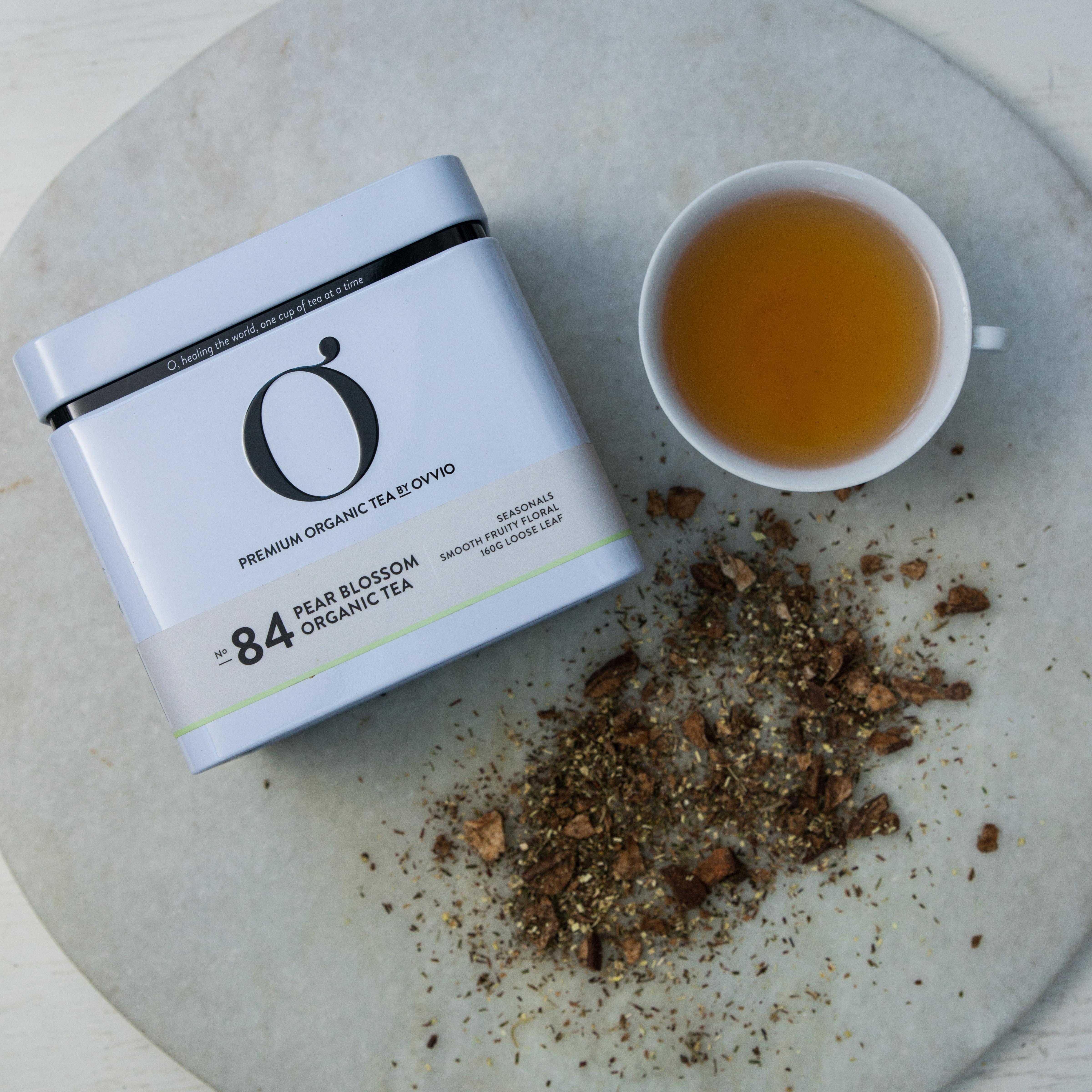NEW No 84 Pear Blossom Organic Tea Tin by Ovvio Organics