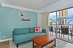 Waikiki Park Heights Ocean 1 BDR on the 12th Floor