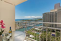 Ilikai Hotel Ocean-Marina 1BD on the 12th Floor