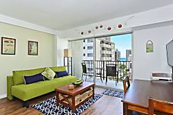 Waikiki Park Heights Ocean 1 BDR 8th Floor