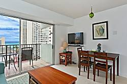 Waikiki Park Heights Ocean 1 BDR on the 12th Floor