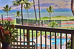 Beach frontage in Maui, 2 bdrm