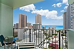 Waikiki Park Heights Ocean 1BD on the 18th Floor