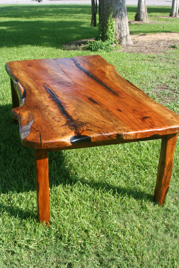 This pecan table is a little radical.  But that is what the customers wanted.  It is also what we like to do.