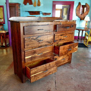Black walnut chest of drawers