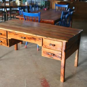 Handmade pecan desk
