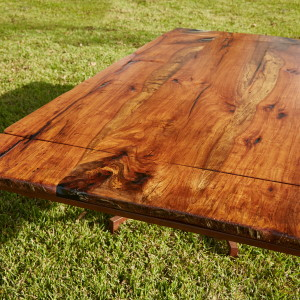 8' pecan table with extensions