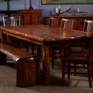 7' pecan dining table