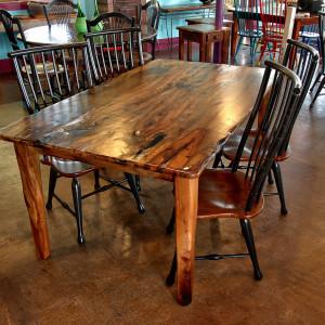 Pecan dinner table