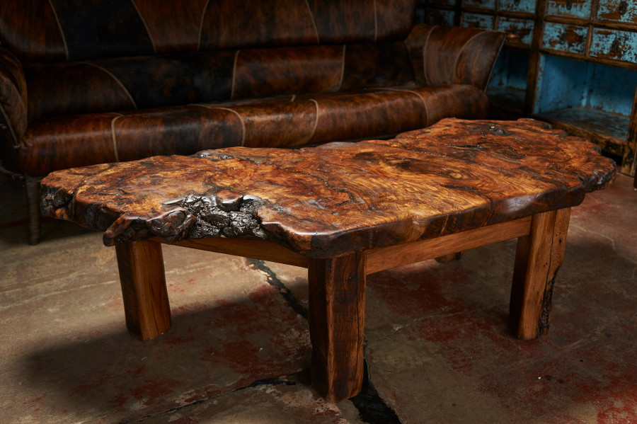 This coffee table made from burled oak is truly one of a kind this piece of wood does not exist One of a kind coffee tables