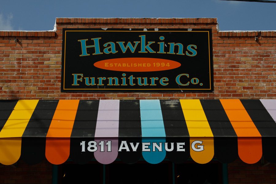 You know, to give you an idea of what Hawkins Furniture Co. looks like.