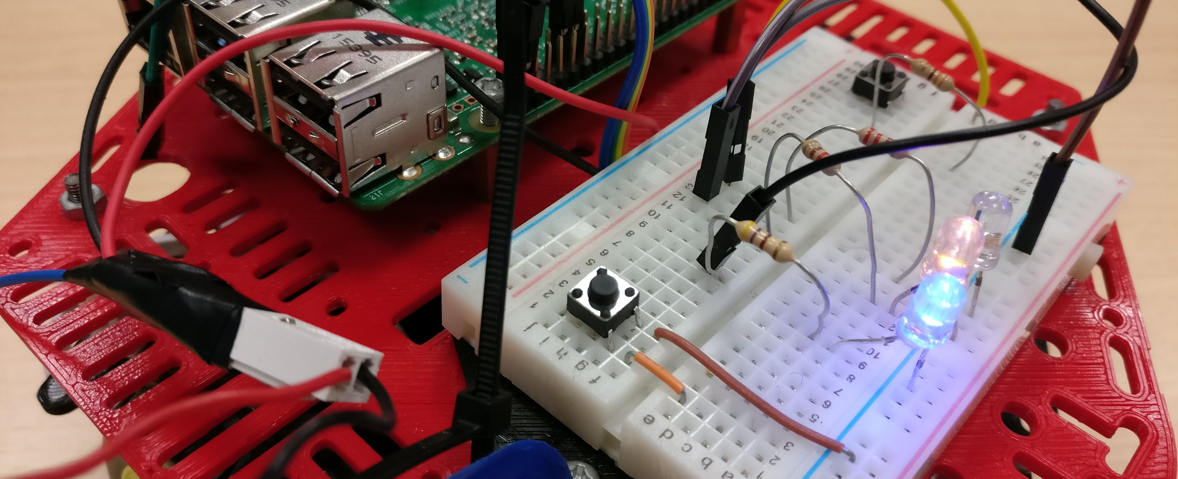 DotBot bottone tutorial ROS Raspberry
