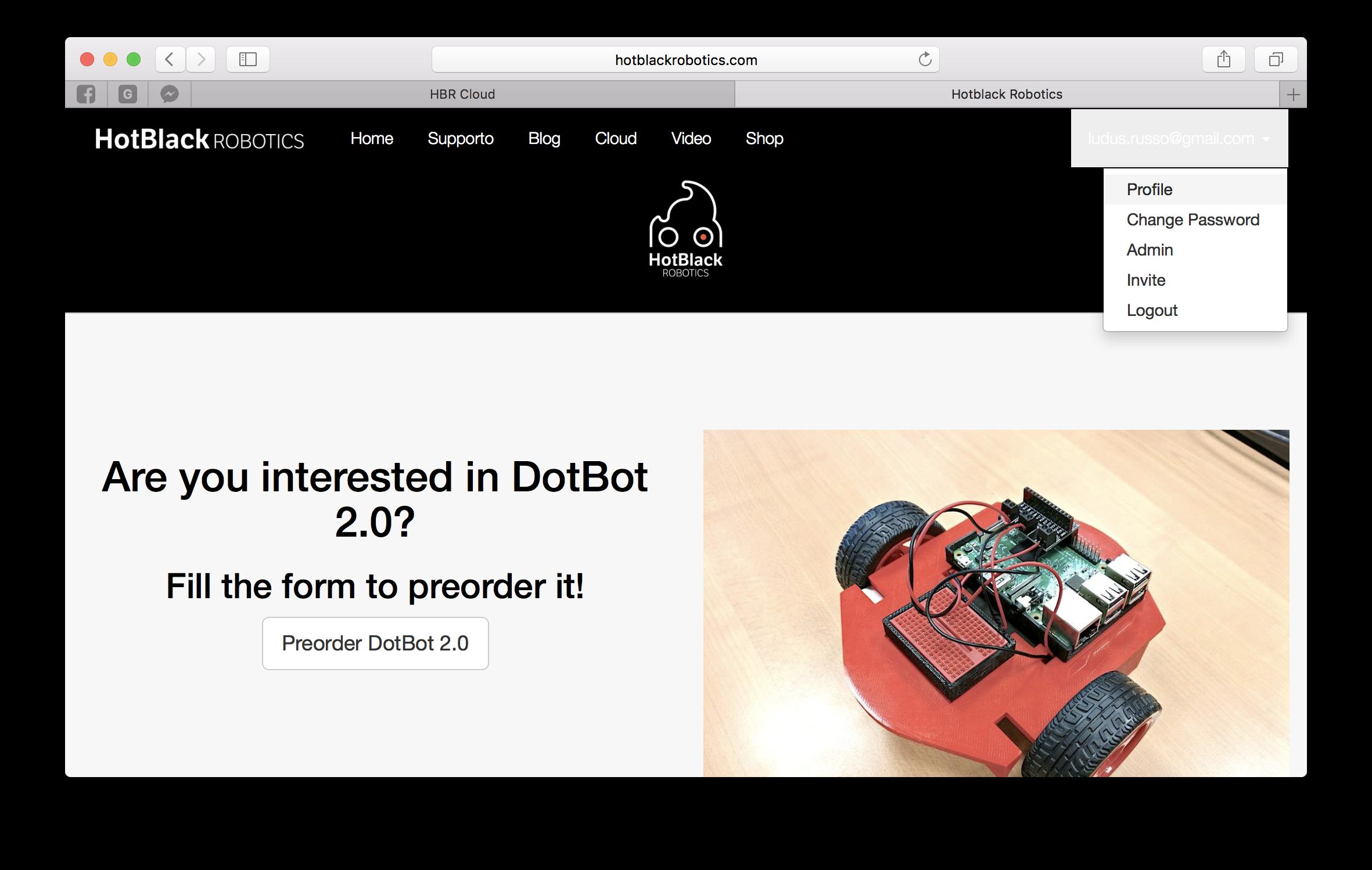 Homepage Profilo