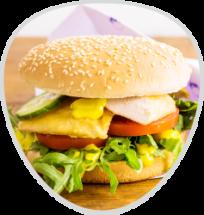 Chickenburger Ruccola