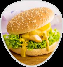 Chickenburger mit Ananas&Käse