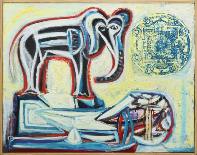 Elefante En La Pista