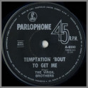 Temptation 'Bout To Get Me B/W I See Her Face by The Virgil Brothers